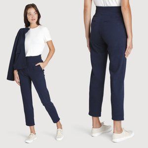 Kit & Ace Heathered Navy High Rise Mulberry Pants